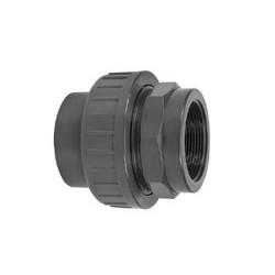 """Pvc koppeling lijm/bin. 20 mm - ½"""""""