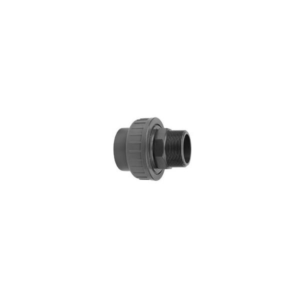 "Pvc koppeling lijm/buit. 16 mm - 3/8"""