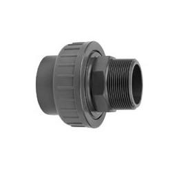"Pvc koppeling lijm/buit. 20 mm - ½"""