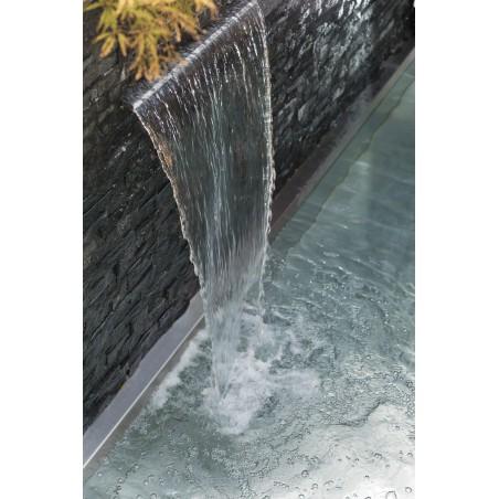 Vijver waterval RVS